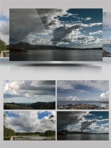 4K汹涌澎湃的云层延时摄影