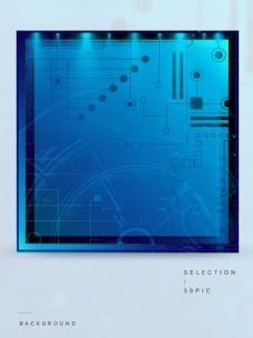 原创蓝色科技未来机械渐变背景