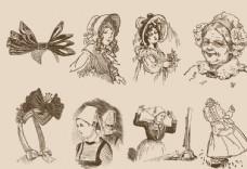 欧洲复古插画