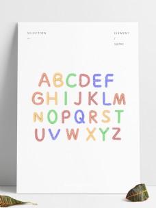 C4D彩色糖果大写字母套图