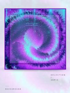 原创紫色渐变科技背景