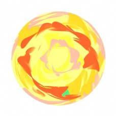 抽象类似色艺术旋转球