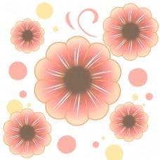 粉色花儿白色花蕊可爱