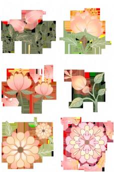 粉色花儿白色花蕊可爱合集