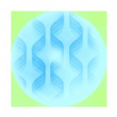 抽象DNA艺术球体