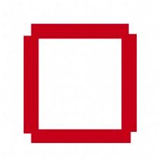 边框欧式花纹红色元素
