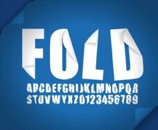 立体质感折纸效果英文字母