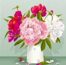 精美牡丹花插花