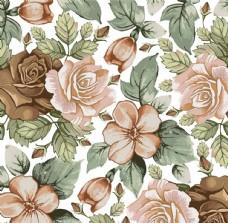 复古风格花卉图案