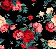 复古风格玫瑰图案