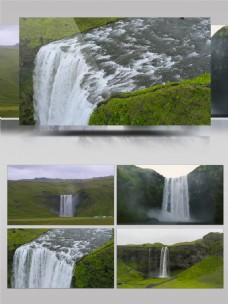 4K自然美景瀑布流水航拍