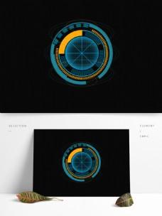 原创矢量圆形线路科技元素可商用