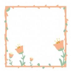 黄色花蕊粉色边框