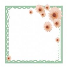 菊花花蕊绿色边框