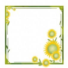 小菊花花蕊黄绿色边框