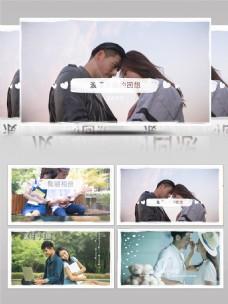 简洁爱情照片展示AE模板