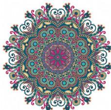 曼陀罗圆形花纹