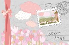 花朵明信片