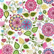 抽象花卉图案