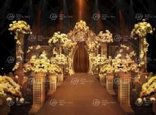 金色婚礼效果图