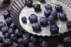 新鲜浆果蓝莓实物图摄影图