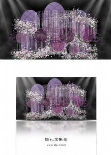 紫色梦幻婚礼唯美浪漫婚礼