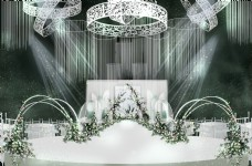 室内清新婚礼效果图
