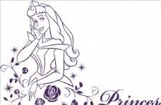 白雪公主美女花朵花中美女星星