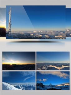 唯美雪山之巅延时摄影