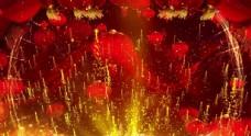 年会视频背景 大红灯笼背景