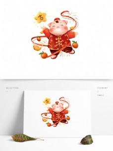 2019猪年大吉大利新年元素设计图片