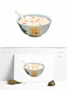 元宵节福字碗汤圆可商用