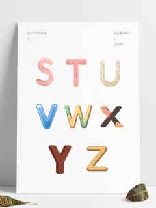 糖果字母可爱字体可商用