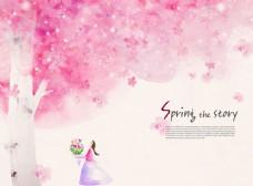 手繪浪漫櫻花