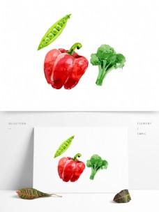 卡通绿色蔬菜png元素