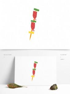 手绘矢量烤串烤香肠元素设计