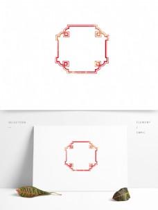 中国风边框古典喜庆新中式边框古风古典花纹