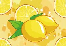 新鲜果汁柠檬汁