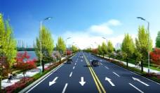 道路效果图   景观效果图