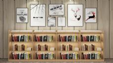 双面三层书架书店书柜