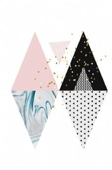 北欧小清新彩色创意图案装饰画