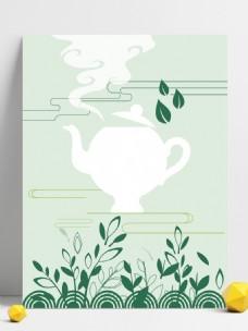 茶文化清新文艺背景素材