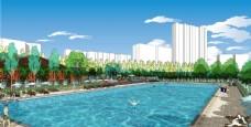 温泉休闲区景观设计