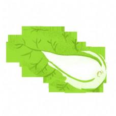 绿色蔬菜白菜矢量元素
