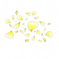 手绘心形花瓣插画