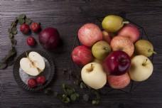 新鲜水果雪梨苹果等实物图摄影图2