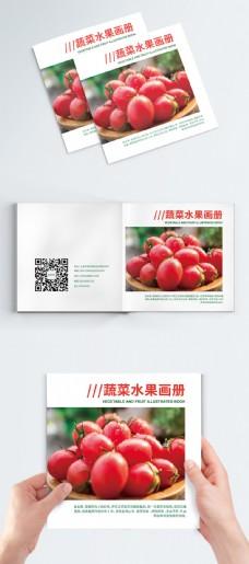 时尚大气红色蔬菜水果画册封面