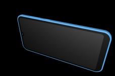 蓝色3d全面屏手机