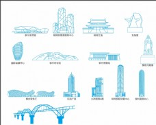 柳州元素线描图