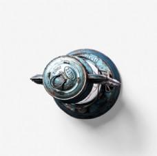 金属复古典手提马灯摆件素材